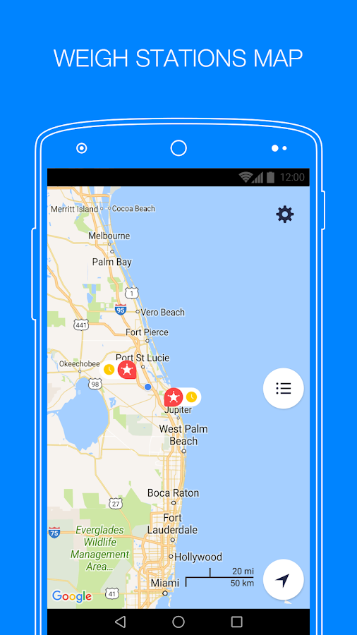 Jack Reports Weigh Stations Android Apps On Google Play - Us weigh station map