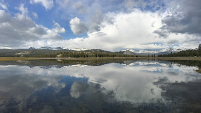 Photo: iPhone 6S+ storm reflection panorama.