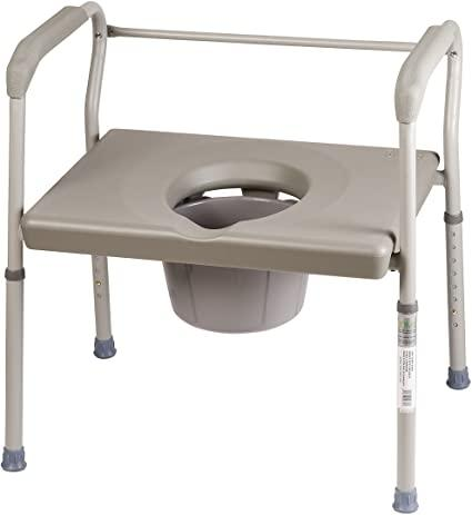 Amazon.com: DMI Adjustable Bedside Commode for Adults Can Be Used ...