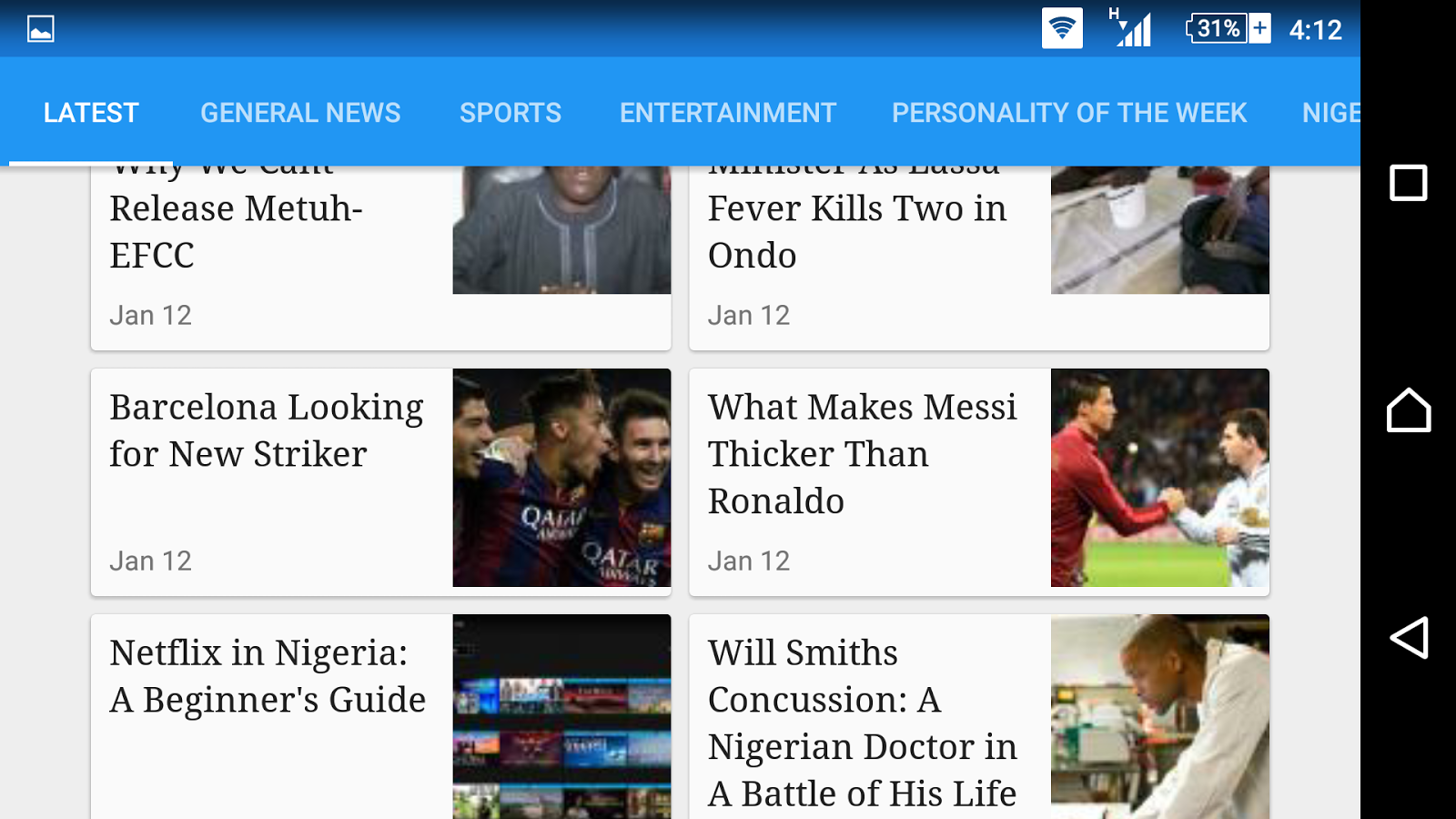 Silverbird TV Mobile- screenshot