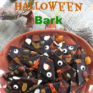 Fruit & Nut Halloween Bark