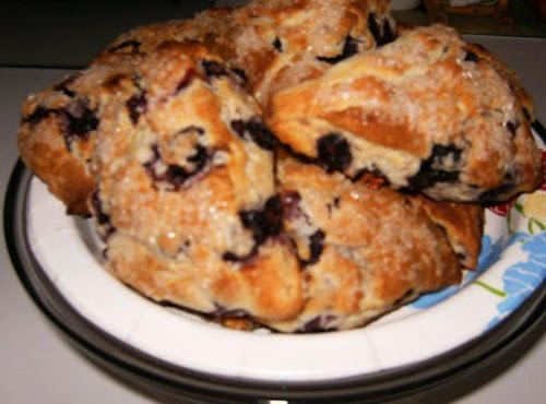 """Blueberry Scones """"This was delicious! We made these yesterday for Sunday breakfast..."""