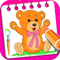 Little Teddy Bear Coloring Book Game icon