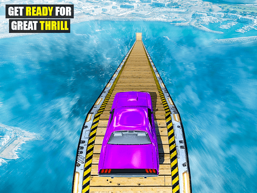 Mega Ramp Impossible Car Jump Over The Airplane screenshots 14