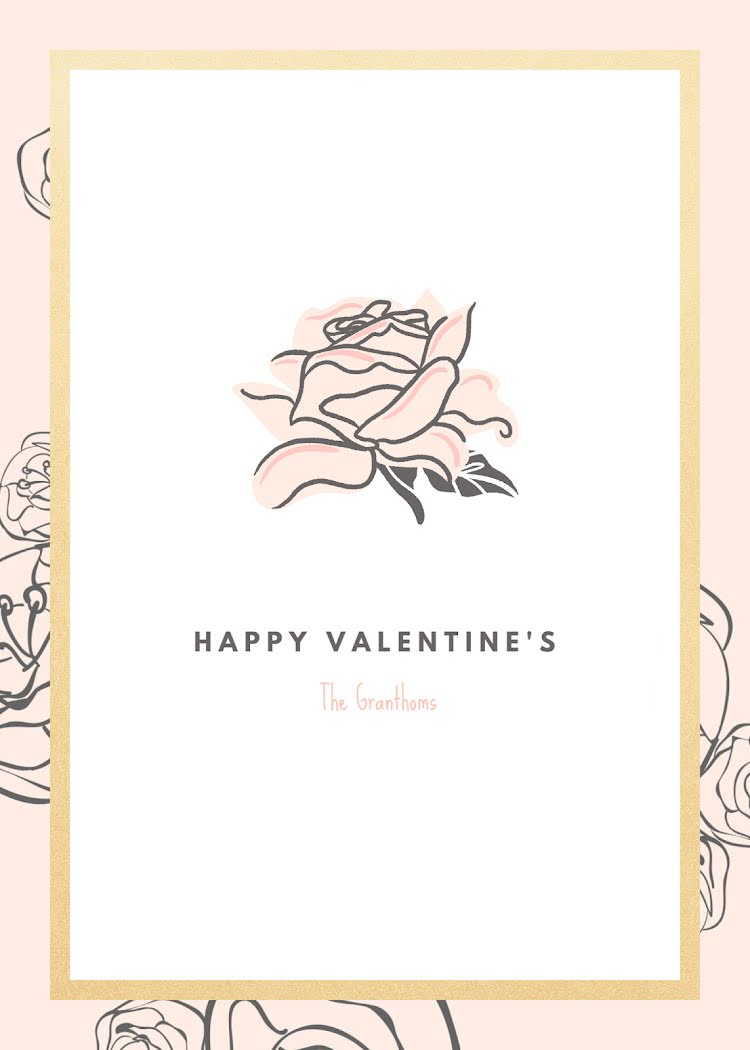 Happy Valentine's - Valentine's Day Card Template