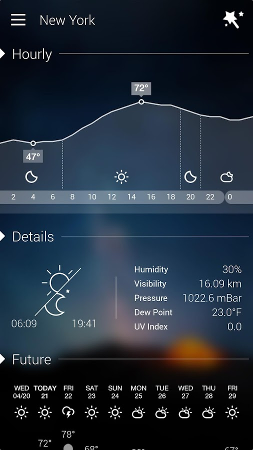 Screenshots of GO Weather Forecast & Widgets for Android