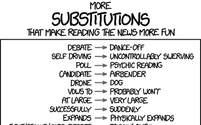 My XKCD Substitutions