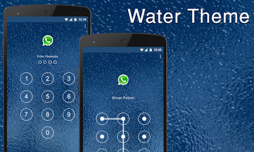 Blue Water Applock theme screenshot 0