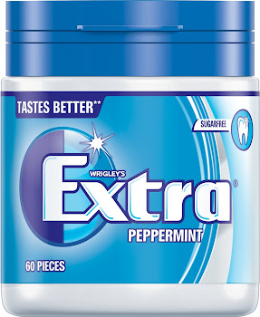 Wrigleys Extra Chewing Gum - Peppermint, 60 Pieces