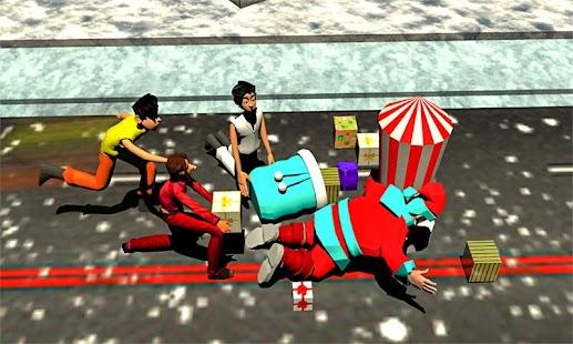 Santa Claus Christmas Super Runner Vs Crazy Kids - náhled