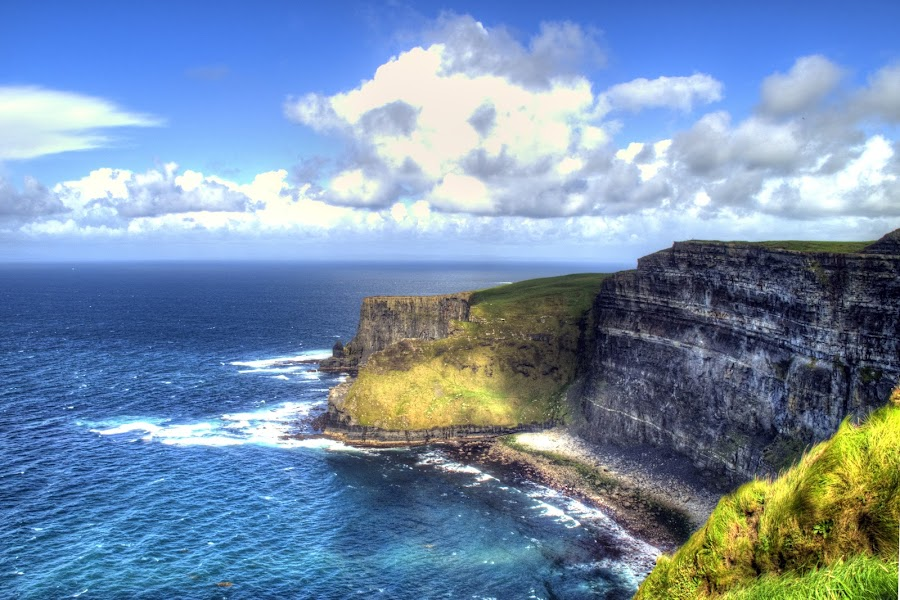 big cllifs by Darko Kovac - Landscapes Travel ( ireland, hdr, sea, cllifs of moher, atlantic )