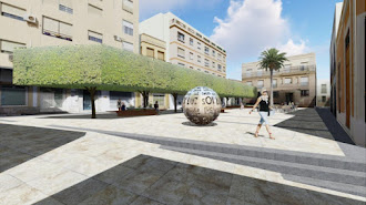 Imagen virtual del diseño de la nueva Plaza Careaga.