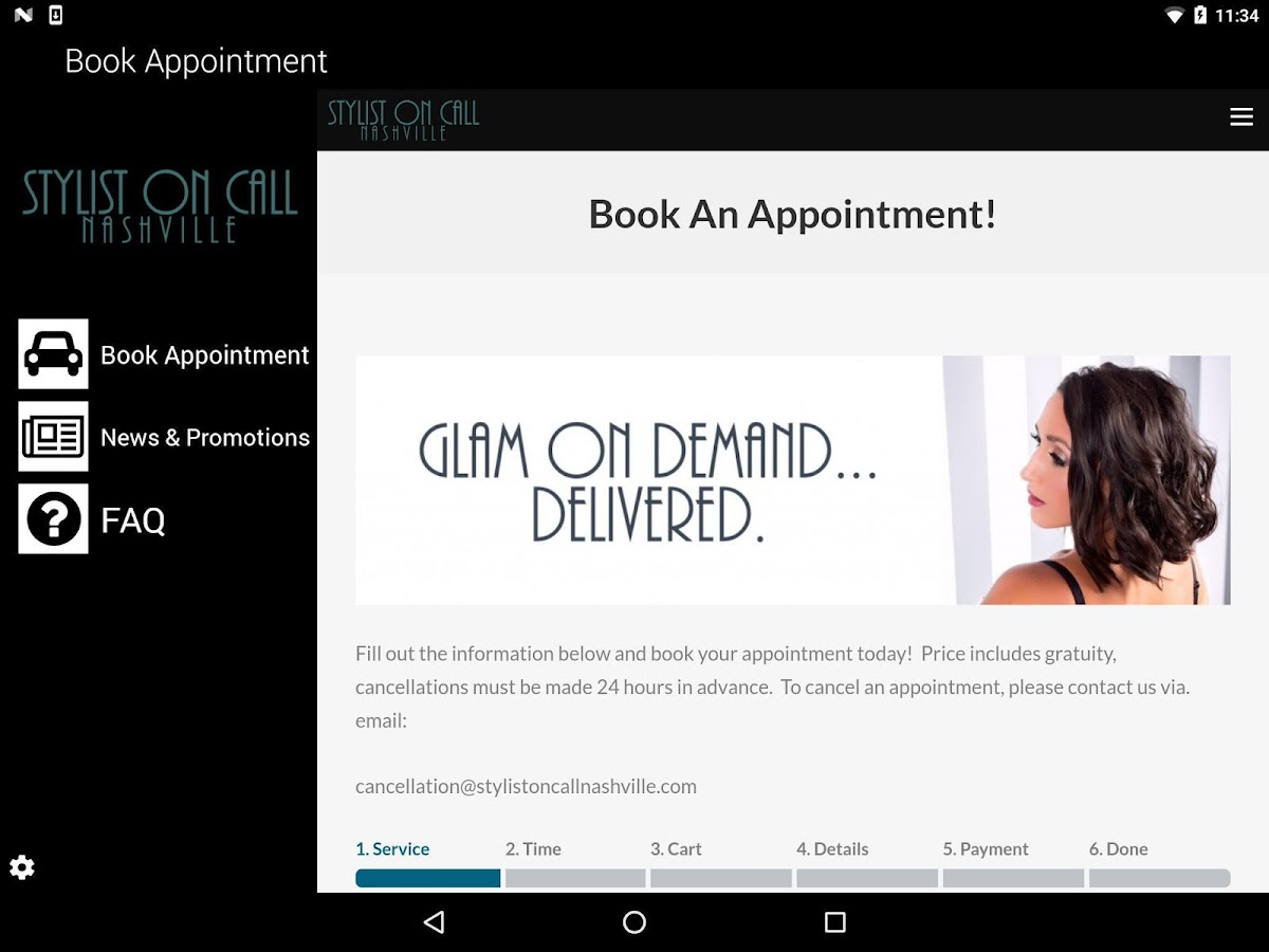 Stylist On Call Mobile- screenshot