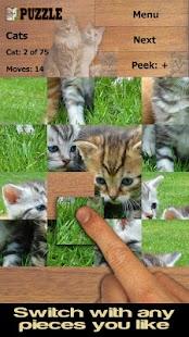 Kočky puzzle (zdarma) - náhled