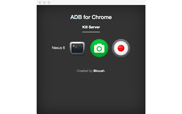 ADB for Chrome Screenshot