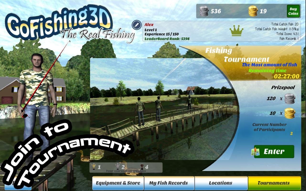 Gofishing3d the real fishing screenshot
