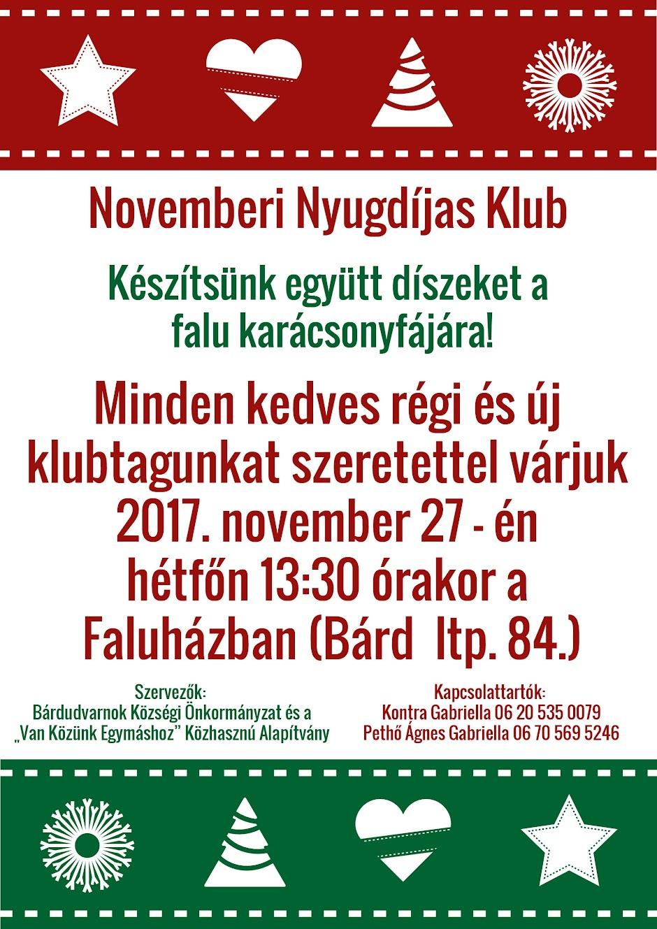 Nyugdíjas Klub 2017