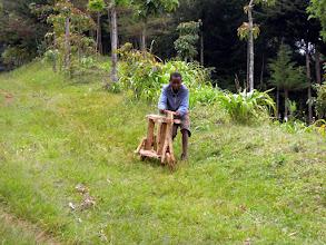Photo: Wooden bike!
