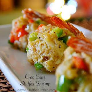 Crab Cake Stuffed Shrimp.