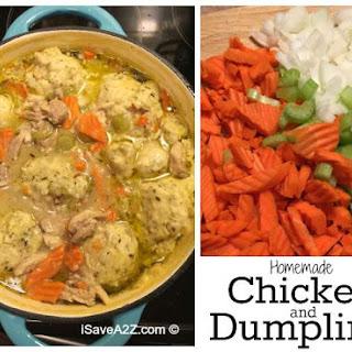 Homemade Chicken and Dumplings from Scratch.