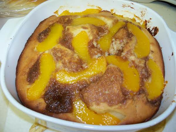 Peaches N Crumb Cake