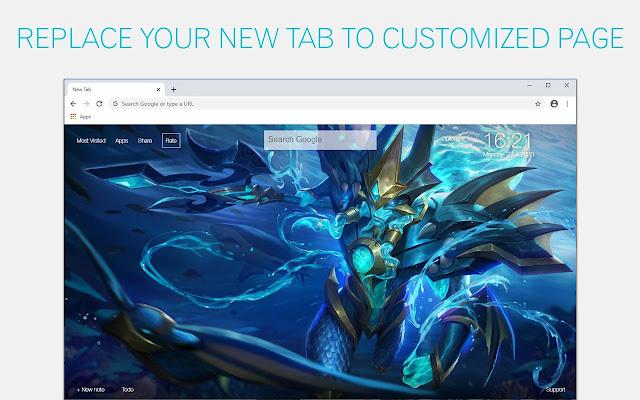 Mobile Legends Bang Bang Custom New Tab