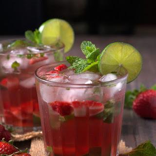 Strawberry Rose Wine Mojito.