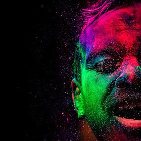 Colors of Smile by Prithiviraj Kiridarane - People Portraits of Men ( color, holi, smile, people )