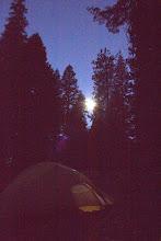 Photo: Full moon over my campsite