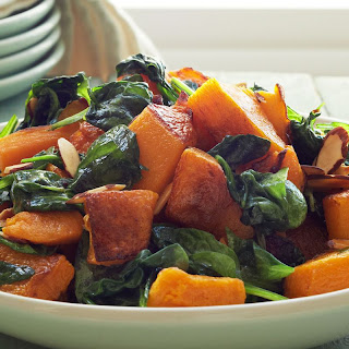 Roasted Butternut Squash and Spinach.
