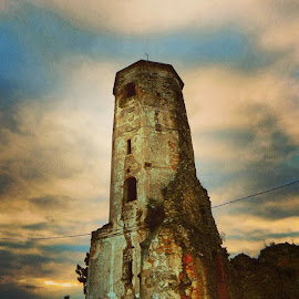 Old tower by Nat Bolfan-Stosic - Uncategorized All Uncategorized ( old, tower, village, church, antique )