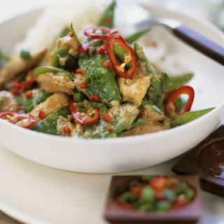 Chicken and Sugar Snap Peas in Coconut Curry Sauce