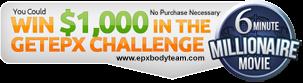 Photo: EPX Body $1000 millionaire movie banner