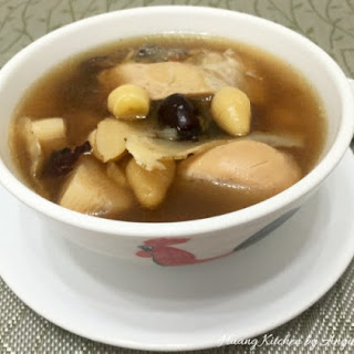 Chinese Yam With Gingko Soup.
