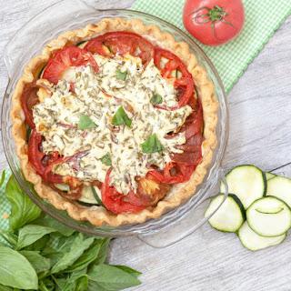 Tomato Zucchini Pie with Yogurt and Herbs