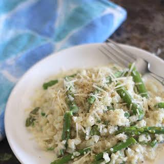 Creamy Asparagus Cauliflower Rice.