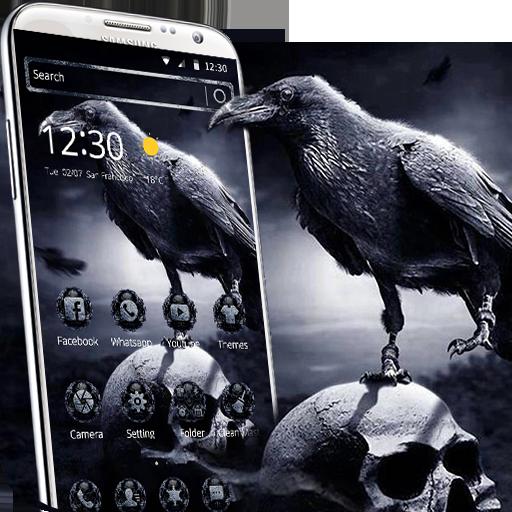 Download horror theme: skull grim reaper wallpaper hd theme for.