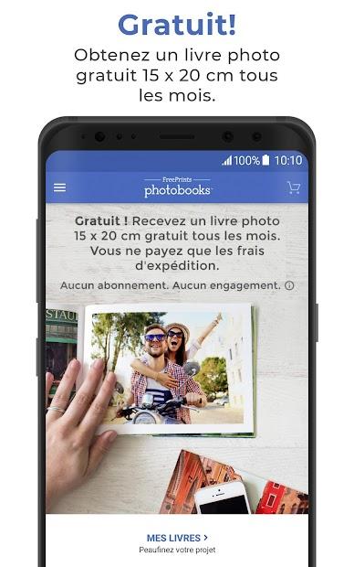 FreePrints Photobooks – Livres photo gratuits Android App Screenshot