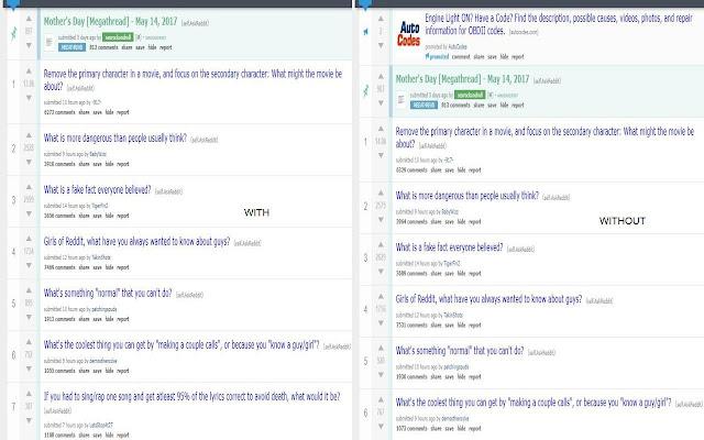 Reddit Sponsored Thread Remover