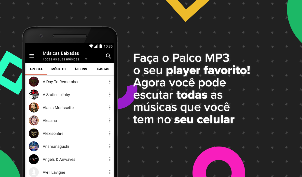 Palco MP3: captura de tela
