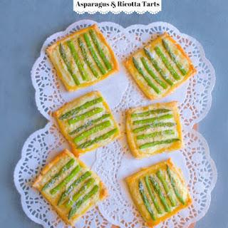 Asparagus and Ricotta Tarts.