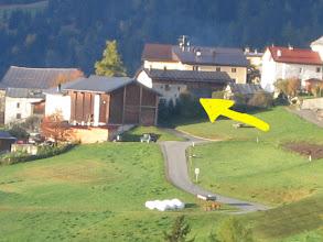 Photo: für Besucher: unser Haus (Pfeil)