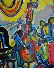 "Photo: Jitterbug Musicians at the Jitterbug Ballroom - Acrylic on Canvas - 31""X41"""