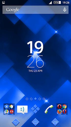 Xperien Theme Sparkle Blue