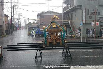 Photo: 【平成26年(2014) 本宮】 激しい夕立に見舞われる。