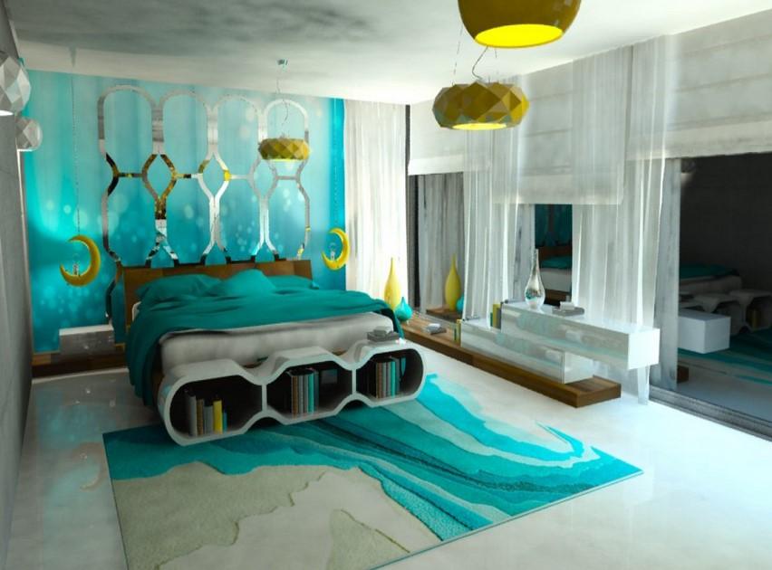 Intense Turquoise Bedroom