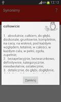 Screenshot of Słownik synonimów
