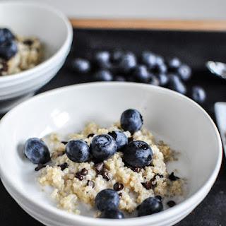 Chocolate Chip Blueberry Breakfast Quinoa.