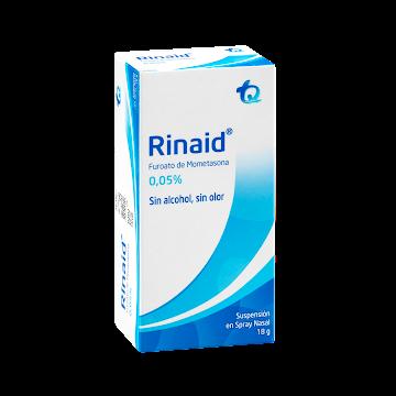 RINAID 0.05% Inhalador   Frasco x18g Furoato de mometasona