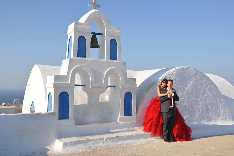 sposi a Santorini di Lucionap